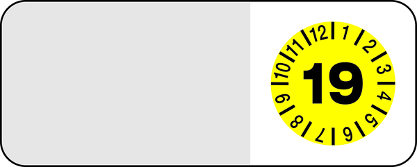 Kabelprüfplakette, Prüfplakette in Jahresfarben - VE = 10 Plaketten