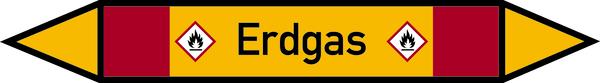 Rohrleitungskennzeichen Erdgas