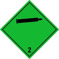 Gefahrzettel, Gefahrgutklasse 2 - Nicht entzündbare, nicht giftige Gase