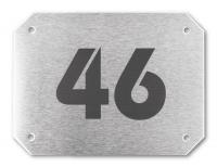 Hausnummernschild, Edelstahl