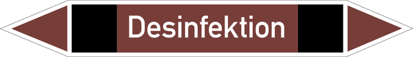 Rohrleitungskennzeichnung: nichtbrennbare Flüssigkeiten und Feststoffe