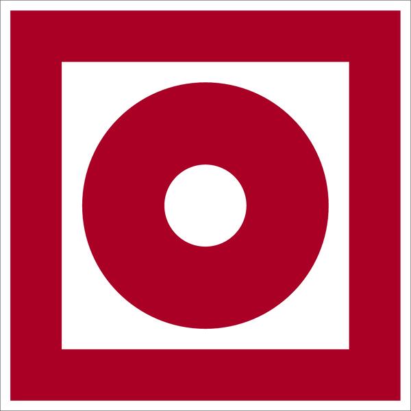 Brandschutzzeichen, Brandmelder D-F008 - DIN 4844