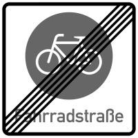 Verkehrszeichen, Ende der Fahrradstraße, Zeichen 244.2
