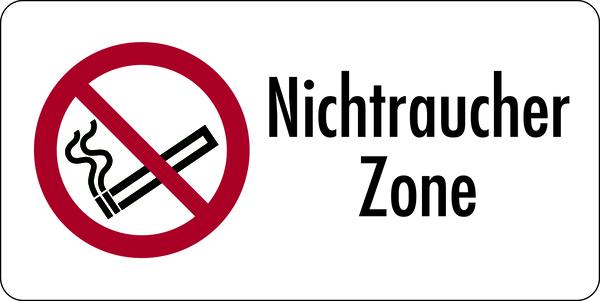 Kombischild, Nichtraucher Zone