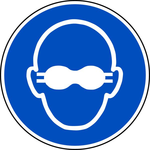Gebotszeichen, Weitgehend lichtundurchlässigen Augenschutz benutzen M007 - ASR A1.3/DIN EN ISO 7010