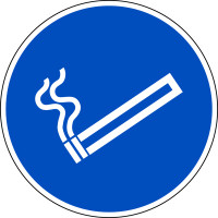 Gebotsschild, Rauchen erlaubt, Ø 200 mm, praxisbewährt
