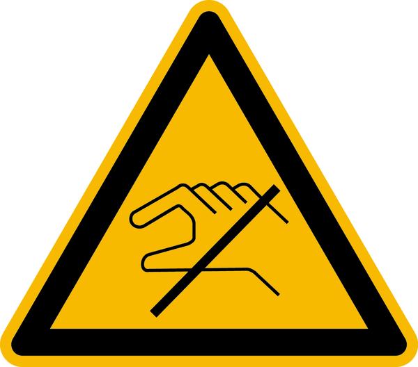 Warnzeichen Nicht berühren