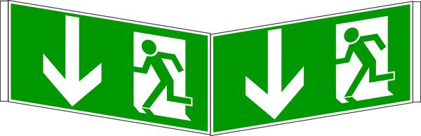 Rettungszeichen, Winkelschilder nach Wunsch