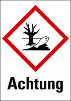 """Gefahrstoffkennzeichnung - Umwelt (GHS09) & Signalwort """"Achtung"""""""
