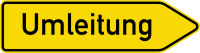 Verkehrszeichen Umleitung rechts