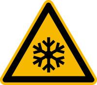 Warnzeichen, Warnung vor niedriger Temperatur / Frost W010 - ASR A1.3 (DIN EN ISO 7010)