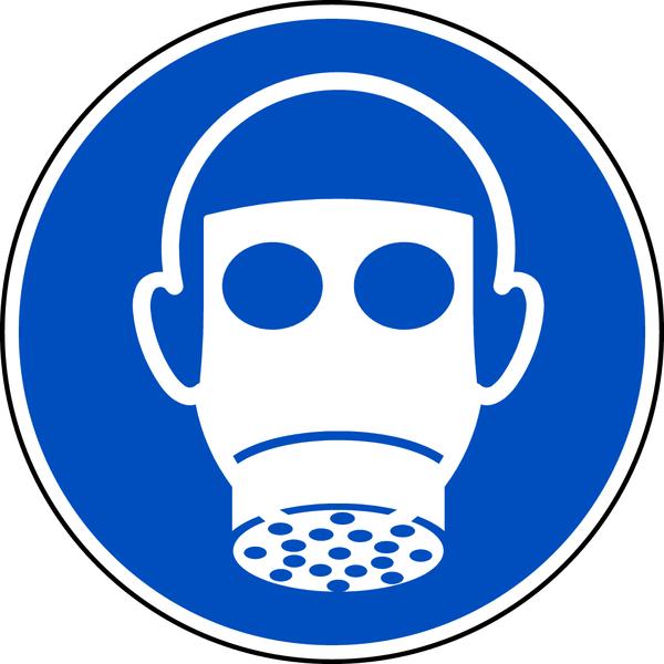 Gebotszeichen, Atemschutz benutzen M017 - ASR A1.3 (DIN EN ISO 7010)