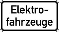 Verkehrszeichen - Elektrofahrzeuge, Zusatzzeichen 1050-33