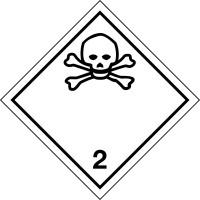 Gefahrzettel, Gefahrgutklasse 2 - Giftige Gase