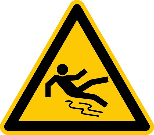 Warnzeichen, Warnung vor Rutschgefahr D-W028 - DIN 4844/BGV A8