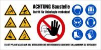 Baustellenbanner aus Gewebeplane, PVC - Symbole gem. ISO 7010