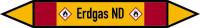 Rohrleitungskennzeichen Erdgas ND