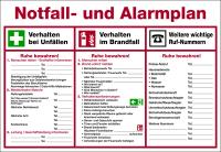 Aushang, Notfall- und Alarmplan