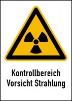Warnschild Strahlenschutz Kontrollbereich Vorsicht Strahlung (WS 111)