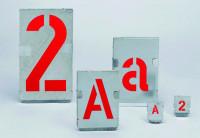 Signierschablonen, Zinkblech, Ziffern - VE = Satz mit Ziffern 0 - 9