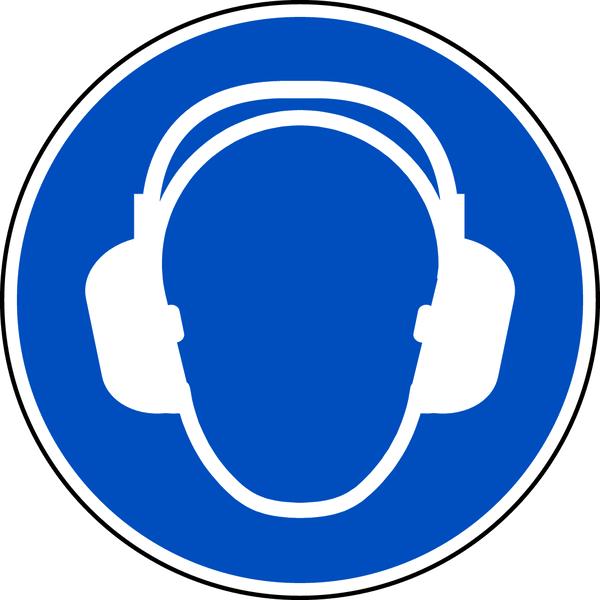 Gebotszeichen, Gehörschutz benutzen M003 - ASR A1.3 (DIN EN ISO 7010)