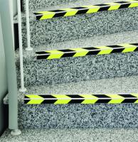 Antirutsch Treppenkantenprofil, Safety-Stair, Aluminium, schwarz/gelb, langnachleuchtend