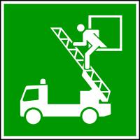 Rettungszeichen, Notausstieg E017 - ASR A1.3 (DIN EN ISO 7010)
