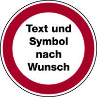 Verbotsschilder mit Text nach Wunsch
