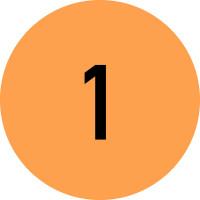Klebepunkte/Markierungspunkte aus Papier, fortlaufend Nummeriert (1-500) - VE = Rolle à 500 Stk.
