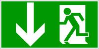 Rettungszeichen, Notausgang - DIN 4844
