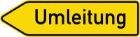 Verkehrszeichen Umleitung links