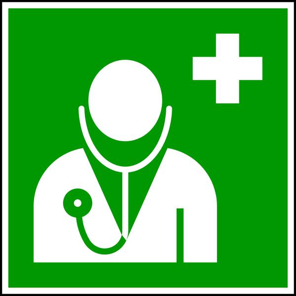 Rettungszeichen, Arzt E009 - ASR A1.3 (DIN EN ISO 7010)