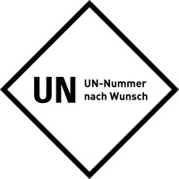 Gefahrgutaufkleber, Raute, UN Nummer nach Wunsch, Folie, 100 x 100 mm