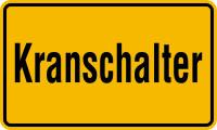 Hinweisschild, Kranschalter, 120x200mm, Alu geprägt