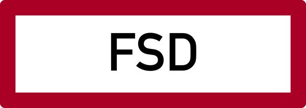 Brandschutzzeichen, FSD (Feuerschlüsseldepot) - DIN 4066