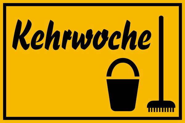 Hinweisschild, Kehrwoche, 200x300mm, Kunststoff