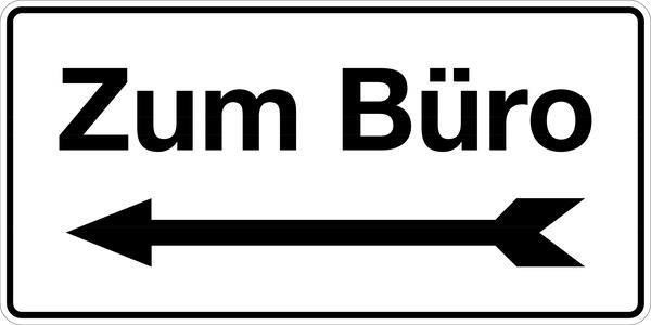Gebäudekennzeichnung Zum Büro links