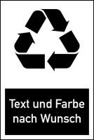 Design-Recyclingschild nach Wunsch
