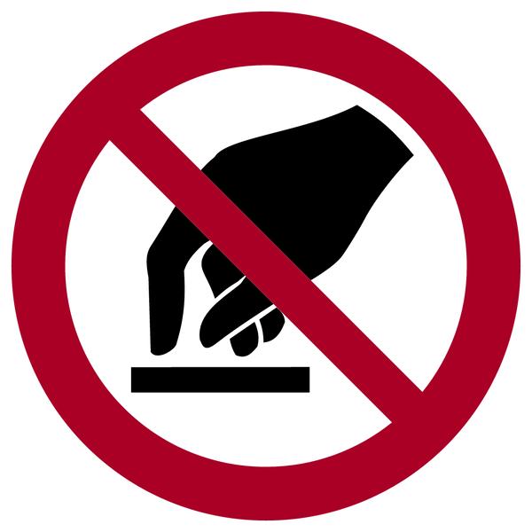 Verbotszeichen, Berühren verboten P010 - ASR A1.3 (DIN EN ISO 7010)
