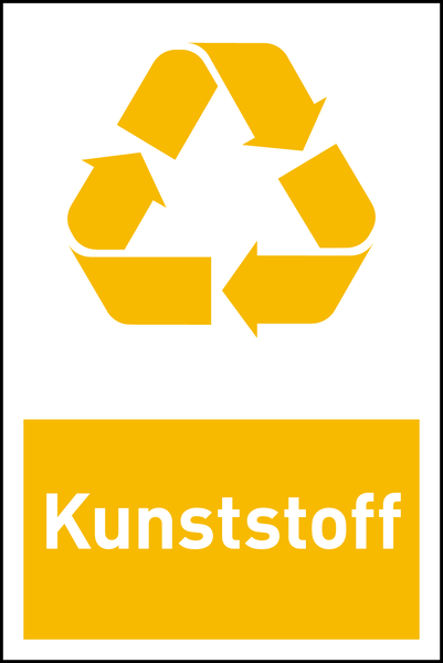 Design-Recyclingschild: Kunststoff