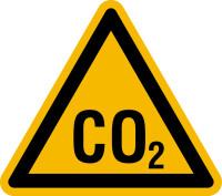 Warnschild, Warnung vor CO2 - praxisbewährt