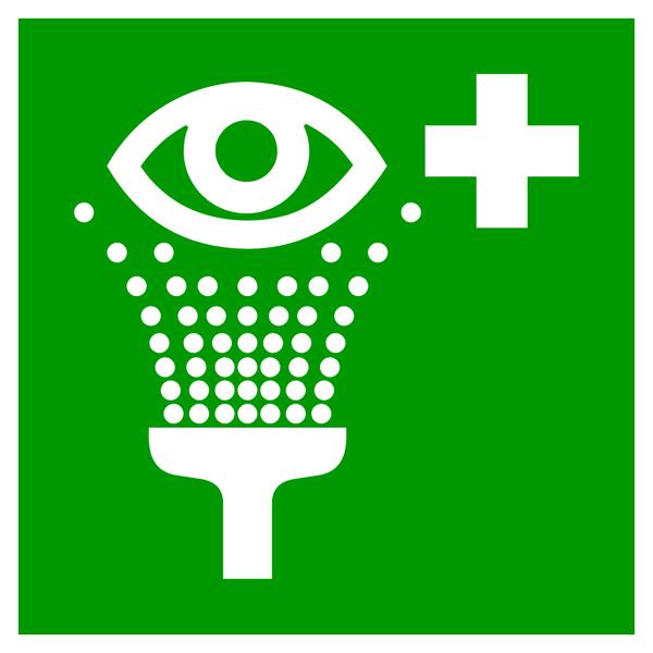 Rettungszeichen, Augenspüleinrichtung E011 - ASR A1.3 (DIN EN ISO 7010)