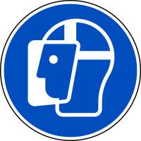 Gebotsschild, Gesichtsschutz benutzen M013 - ASR A1.3 (DIN EN ISO 7010)