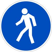 Gebotszeichen, Für Fußgänger D-M010 - DIN 4844/BGV A8