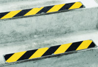 Antirutschplatte, Safety-Stair, schwarz/gelb, Edelstahl