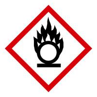 GHS Gefahrensymbol 03: Flamme über einem Kreis - Rolle à 500 Stück