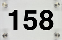 Hausnummernschild aus Glas