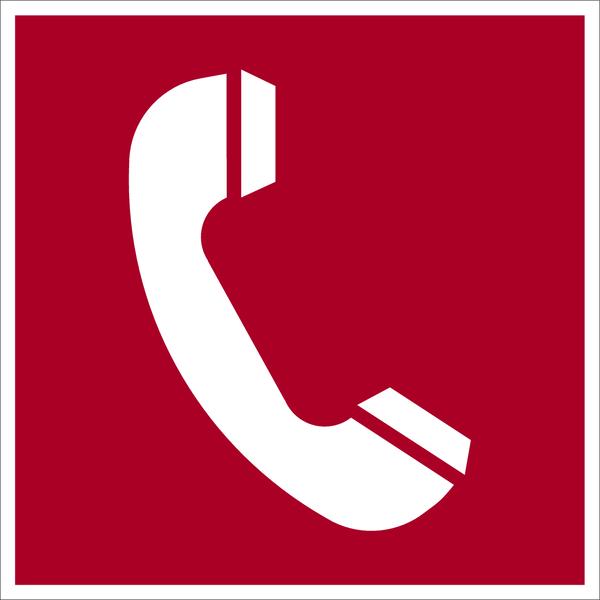 Brandschutzzeichen, Brandmeldetelefon D-F006 - DIN 4844