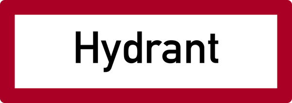 Brandschutzzeichen, Hydrant - DIN 4066