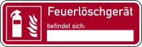 Brandschutzzeichen, Feuerlöschgerät befindet sich - ASR A1.3 (DIN EN ISO 7010)